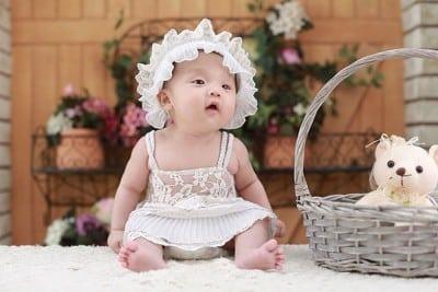 baby met luier