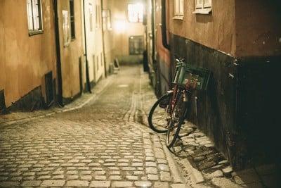fiets met krat