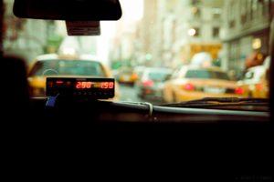 Stad taxi vervoer
